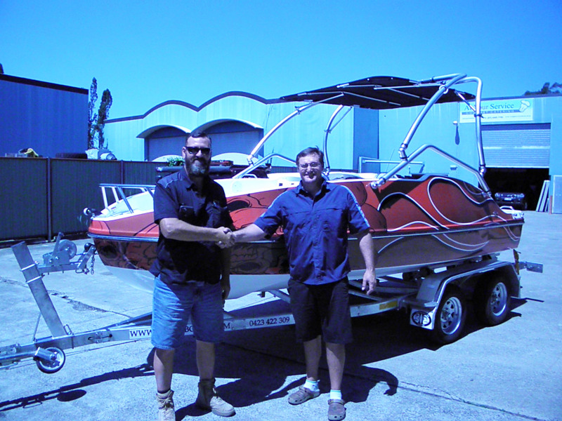 One of our first Jet Ski Boats Deliverd